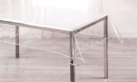 Nappe transparente et imperméables en toile cirée
