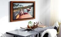 1 toile personnalisée dune taille au choix et son cadre avec Picanova dès 16,99 €