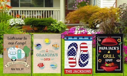 image for Personalized House or Garden Flags from Monogram Online (Up to 75% Off)