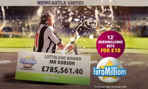 Lottoland: 12 EuroMillions Line Bets from Lottoland (58% Off)