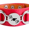 Up to 83% Off Personalized Leatherette Couples Bracelets