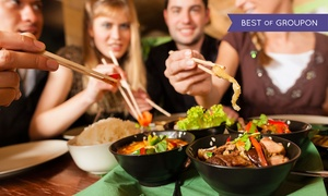 Q'S Creative Asian Dining: Two- or Three-Course Asian Meal with Wine or Beer for Two or Four at Q'S Creative Asian Dining (Up to 49% Off)