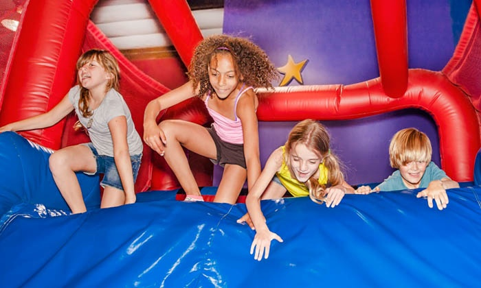 Pump It Up - Multiple Locations: 3, 5, or 10 Open Jump Sessions for Kids at Pump It Up (54% Off). Two Locations Available.