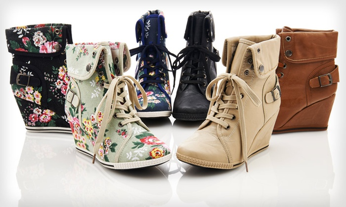 Bucco Wedge Sneakers: $29.99 for One Pair of Bucco Wedge Sneakers ($80 List Price). 6 Styles Available. Free Shipping and Returns.