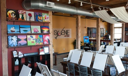 Paint Night for Two or Four at Scene Art Bar (Up to 36% Off)