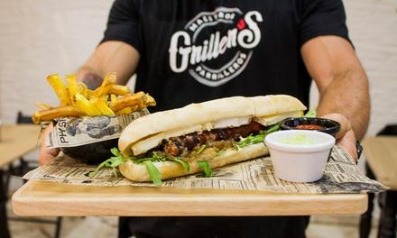 Menú para 2 o 4 con entrante, hamburguesa gourmet, postre o café y bebida desde 21,95 € en Grillers