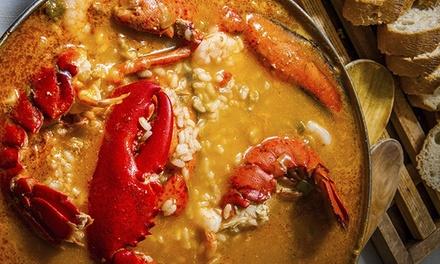 Menú arroz bogavante para 2 o 4 con fritura, botella de vino o cava, postre y chupito desde 24,90€ en Tabernas Gallegas