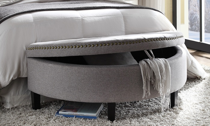 Prime Half Moon Storage Ottoman Groupon Goods Beatyapartments Chair Design Images Beatyapartmentscom
