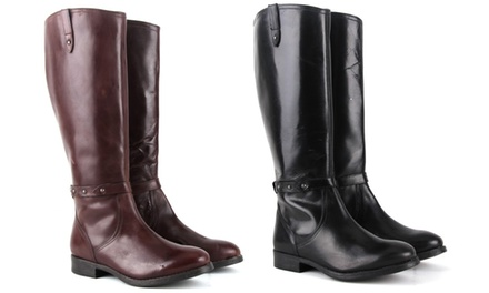 Women's Knee-Height Leather Boots
