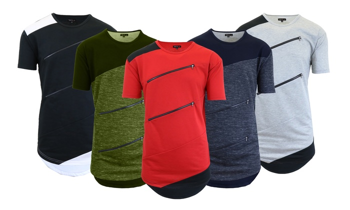 c28f3cb56 Up To 67% Off on Men's French Terry Zippered Tees | Groupon Goods