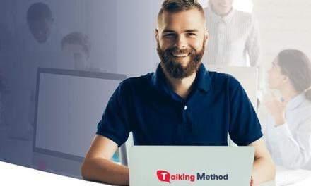 5, 10 o 20 horas de clases de conversación en inglés a distancia con Talking Method (hasta 66% de descuento)