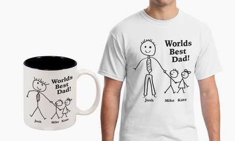 Personalized Dad or Grandpa Mug, T-Shirt, or Both from Monogram Online (Up to 67% Off)