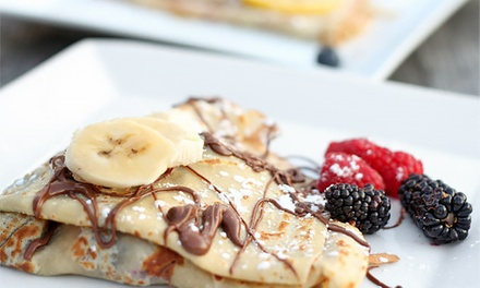 Crepes and French Cuisine for Dinner or Lunch at Chez Machin (Up to 39% Off)