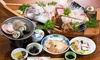 三重/鳥羽菅島 活伊勢海老+地魚&サザエなど三種、船盛り付きなどを堪能/1泊2食