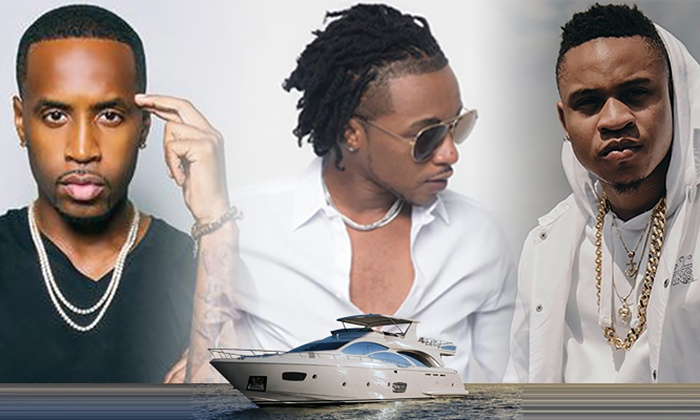 The Power Lhhp All White Attire Yacht Party With Rotimi Safaree