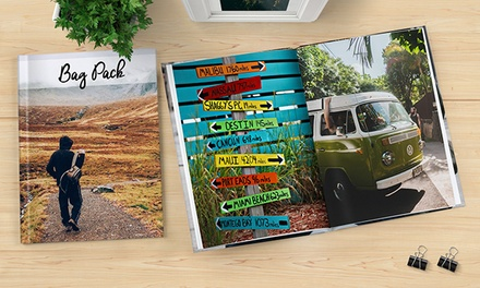 40-Page Softcover or Hardcover Personalised Photobook in Choice...