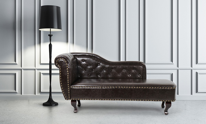 Chesterfield Style Chaise Longue | Groupon