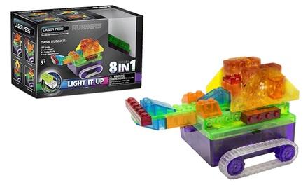 Laser Pegs Eight-in-One Tank Runner Light Up Construction Kit...