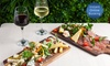 French Tapas Platters and Wine