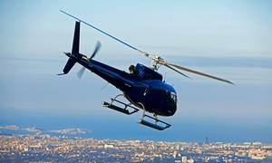 Helitec: Vol en hélicoptère au-dessus des calanques de Marseille pour 1 ou 5 personnes dès 190 € avec Helitec