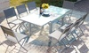 Salon de jardin Lycine alu/verre