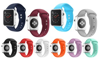 Soft Silicone Sports Replacement Band for Apple Watch 1, 2, 3, 4 & 5