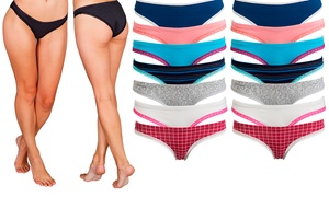 Women's Bikini Underwear Breathable Cotton Panties (12-Pack)