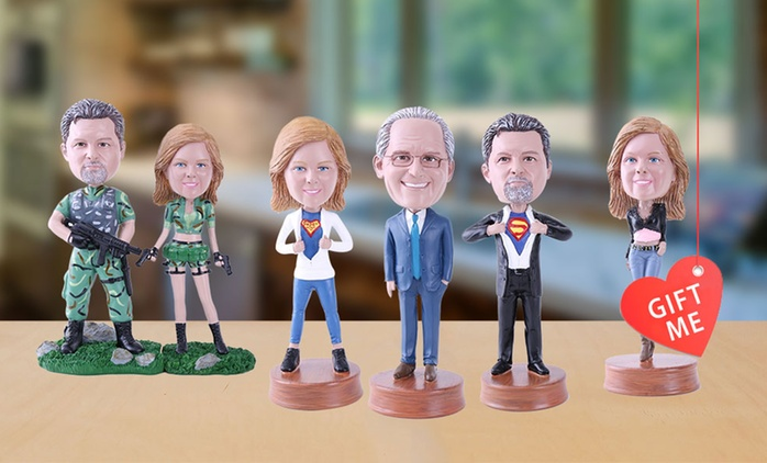 From $59 for a Personalised Single or Couple Bobblehead Voucher (Don't Pay up to $288)