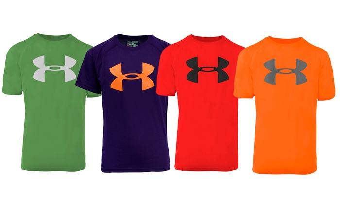 456aa079 Under Armour Boys' UA Logo T-Shirt | Groupon
