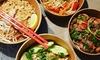 Menu aux saveurs asiatiques