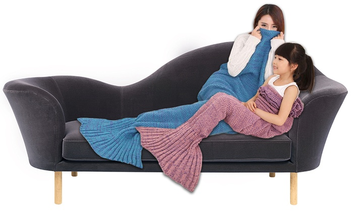 Mermaid Tail Blanket for a Child (from $35) or Adult (from $39)