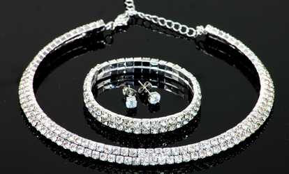 Groupon Double Strand Jewellery Set