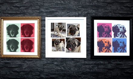 Pet Framed Photo Canvas from £5.95 (Up to 91% Off)