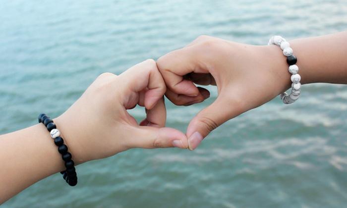 2 bracciali Yin Yang della distanza