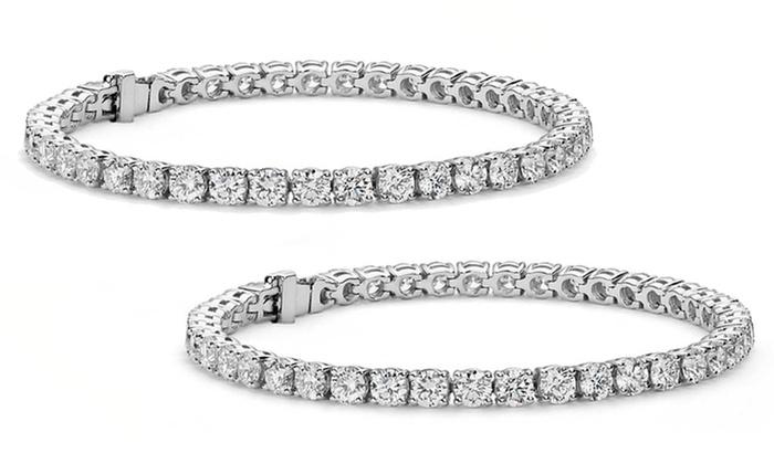 f1c8c2cd501e1 18.00 CTTW Tennis Bracelets made with Swarovski Elements | Groupon