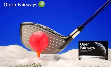 groupon.co.uk - Up to 18-Month Golf Privilege Card from Open Fairways (Up to 66% Off*)