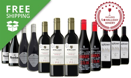 Free Shipping: $79 Bottles of Premium Mixed Shiraz with Five Bottles from a FiveStar Winery Don't Pay $259