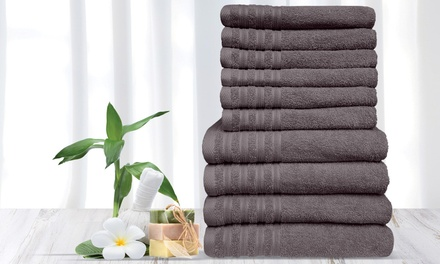 $39 for a 500gsm 10Piece Bella Russo Cotton Towel Set