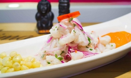 Cocina peruana para 2 o 4 con entrante, principal, postre y bebida desde 24,90 € en INKA Restaurante Peruano