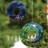 Glass Circle Bird Feeder with Swirled Colors Set (3-Pack)