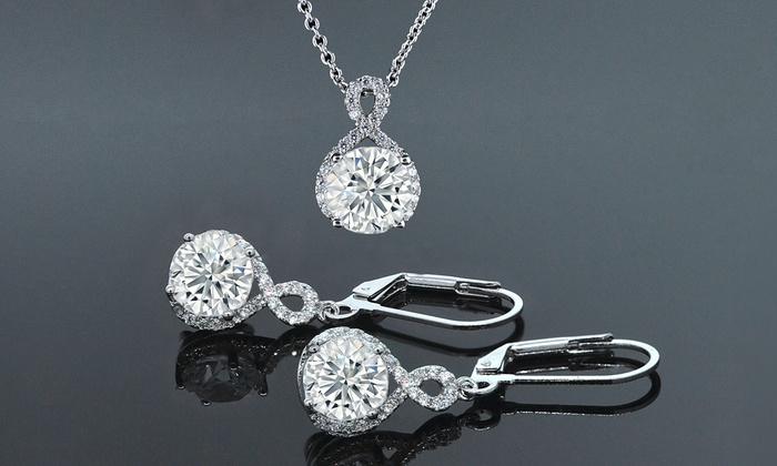 Up To 82 Off On Swarovski Elements Jewelry Set Groupon Goods