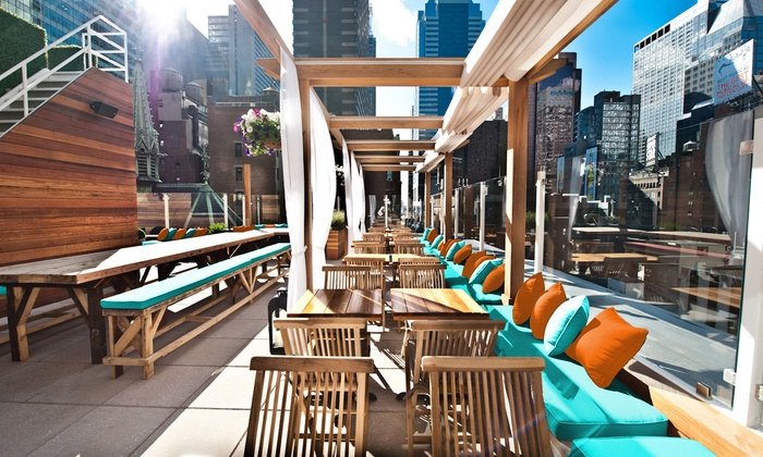 Haven Rooftop - Theater District - Times Square: French-American Inspired Meal for Two or Four at Haven Rooftop (32% Off)