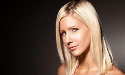 Haircut, Scalp Massage, and Blow-Dry with Optional Keratin Treatment or Partial Foils at Shanon Slik (Up to 51%)