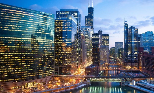 Holiday inn chicago mart plaza river north groupon - Hilton garden inn grand ave chicago ...