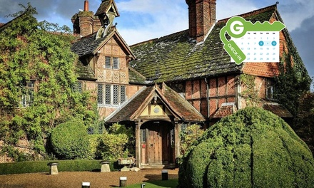 Surrey: Cosy Double Room or Luxury Super King Room for 2 with Breakfast and Dinner or Afternoon Tea at Langshott Manor