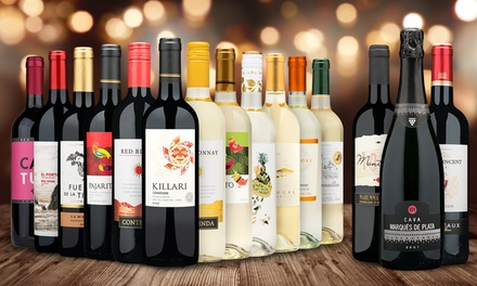 Wine Bundle of 12 Premium Wines plus Winter Bonus Trio from Heartwood & Oak (Up to 79% Off)