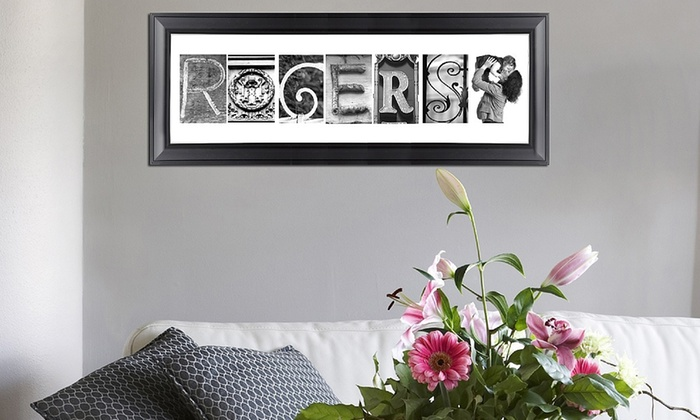 Imagine Letters: Custom Letter-Art Print with Up to Eight Letters and Optional Frame from Imagine Letters (Up to 82% Off)
