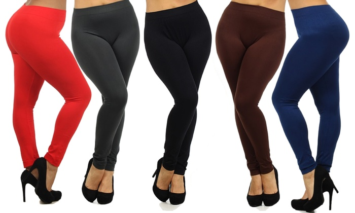 Women's Plus-Size Slimming Leggings (4-Pack) | Groupon