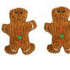 Bow Wow Pet Holiday Gingerbread Dog Toys (2-Pack)
