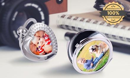Llavero con foto o espejo de bolsillo con foto personalizable 72% con
